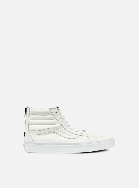 sneakers vans sk8 hi reissue zip premium leather true white black