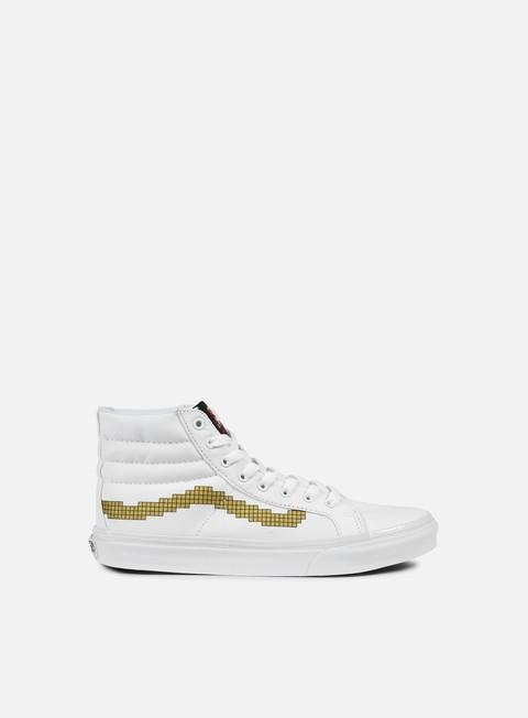 sneakers vans sk8 hi slim nintendo console gold
