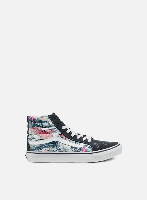 sneakers vans sk8 hi slim tropical multi true white