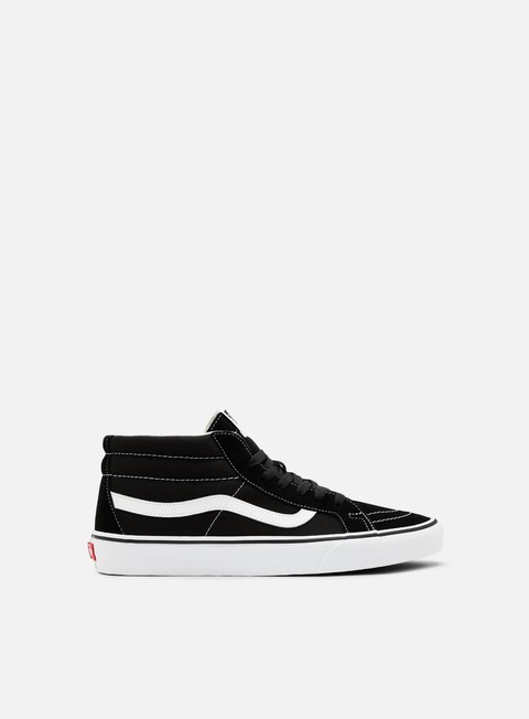 sneakers vans sk8 mid reissue black true white