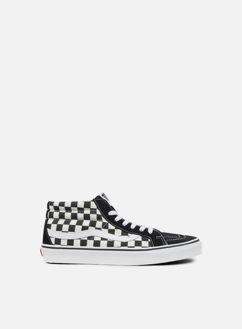 sneakers vans sk8 mid reissue checkerboard checkerboard true white
