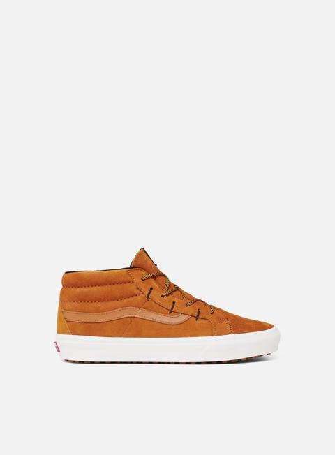 sneakers vans sk8 mid reissue ghillie mte sudan brown marshmallow