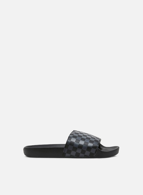 sneakers vans slide on vans checkerboard black asphalt
