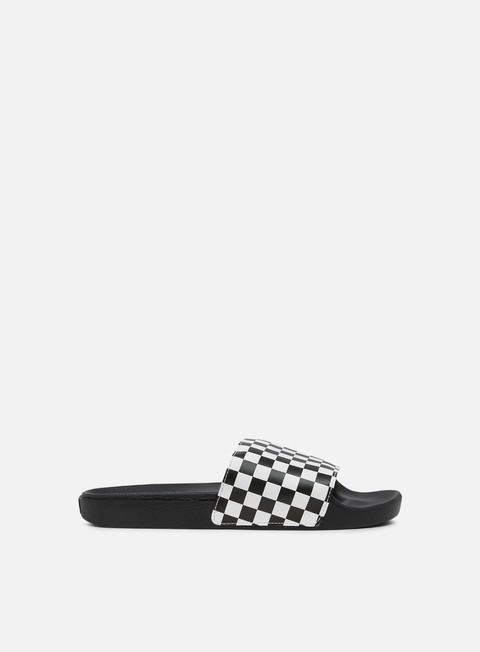 sneakers vans slide on vans checkerboard white