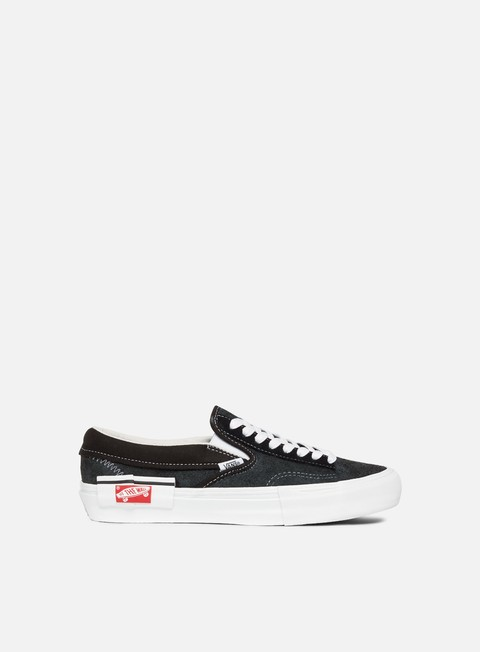 sneakers vans slip on lx cut and paste black true white