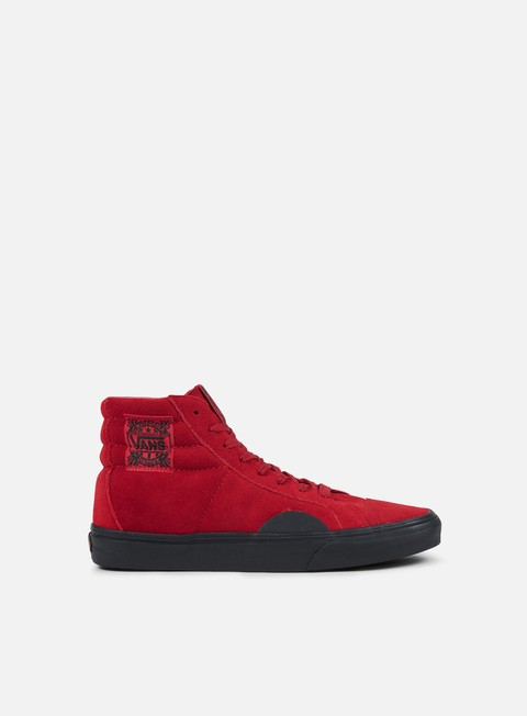 sneakers vans style 238 native suede red black