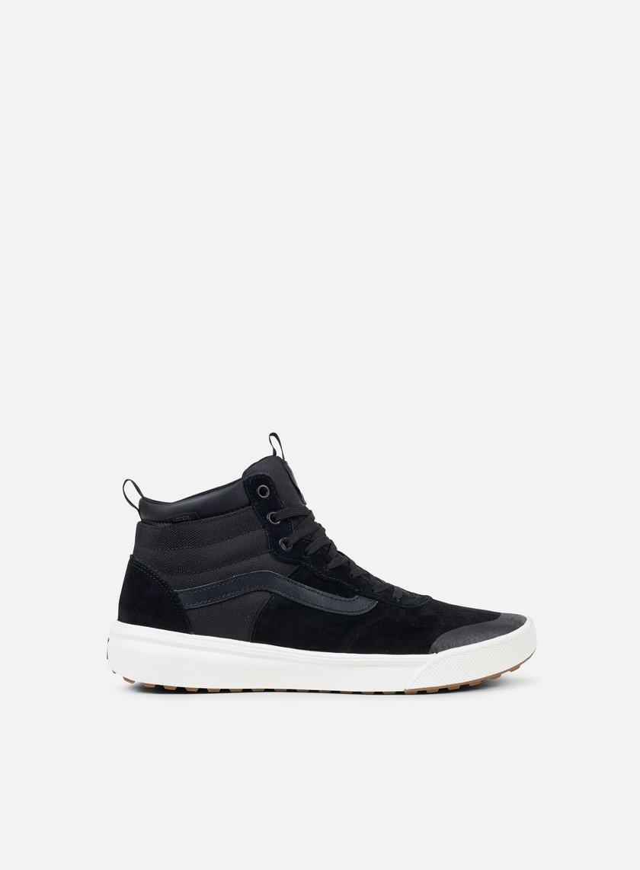 vans ultrarange hi mte black mens shoes