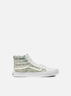 Vans - WMNS Sk8 Hi Slim Frayed Native, True White 1