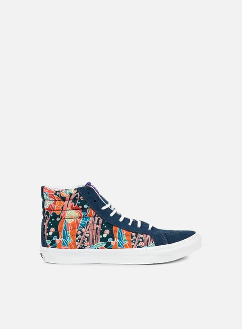 sneakers vans wmns sk8 hi slim liberty sea floral true white
