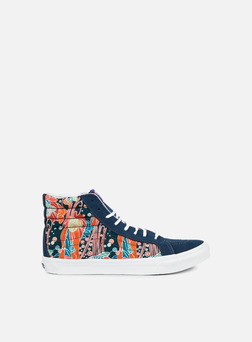 Vans - WMNS Sk8 Hi Slim Liberty, Sea Floral/True White