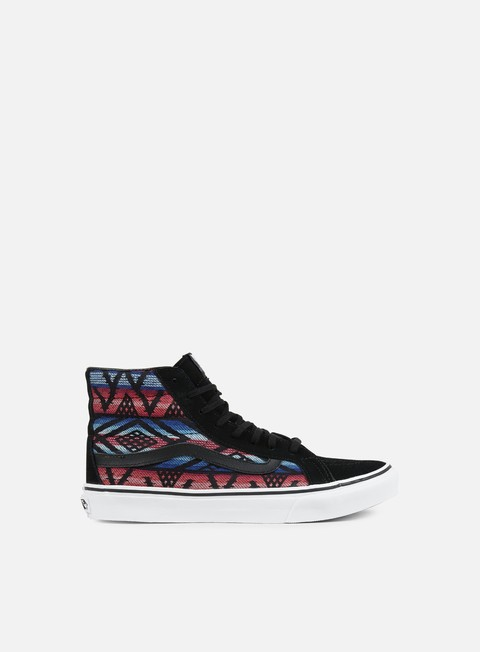sneakers vans wmns sk8 hi slim moroccan geo black true white