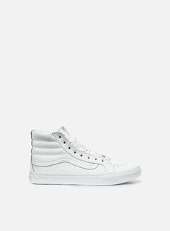 Vans - WMNS Sk8 Hi Slim Rivets, Antique Silve/True White
