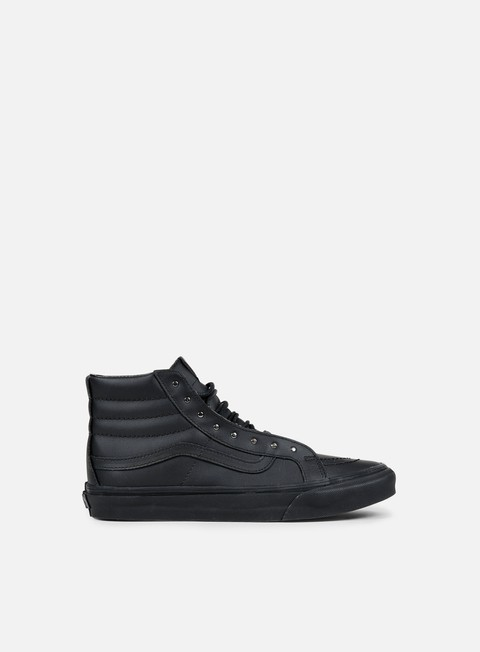 sneakers vans wmns sk8 hi slim rivets gunmetal black