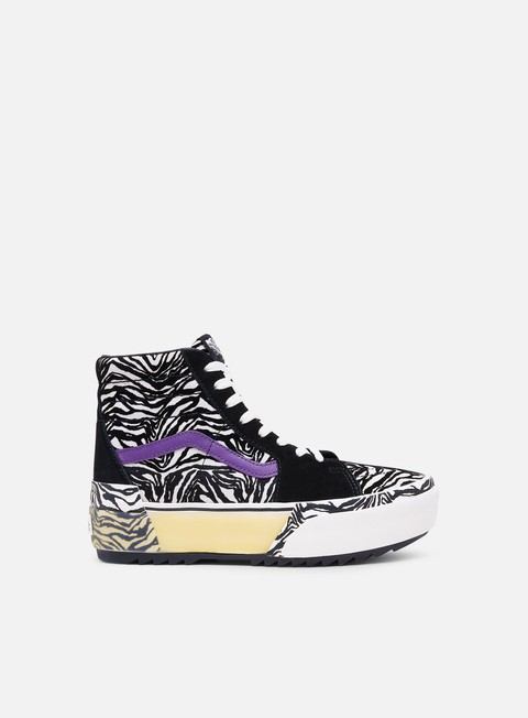 Outlet e Saldi Sneakers Lifestyle Vans WMNS Sk8 Hi Stacked Zebra