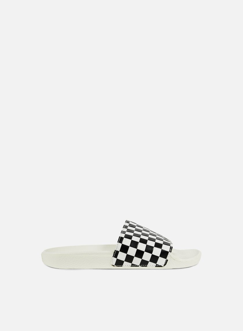 Vans - WMNS Slide-On Checkerboard, White/Black