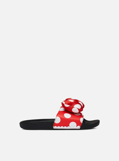 sneakers vans wmns slide on disney minnie s bow true white