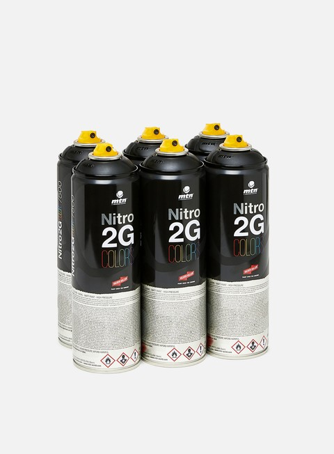 Spray cans packs Montana Nitro 2G Colors 500 ml 6 Pack