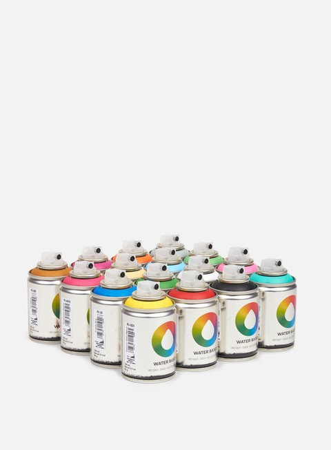 Water based spray cans Montana Water Based 100 ml Workshop 16 Pack