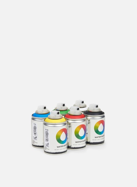 Fine Art Spray Cans Montana Water Based 100 ml Workshop 6 Pack
