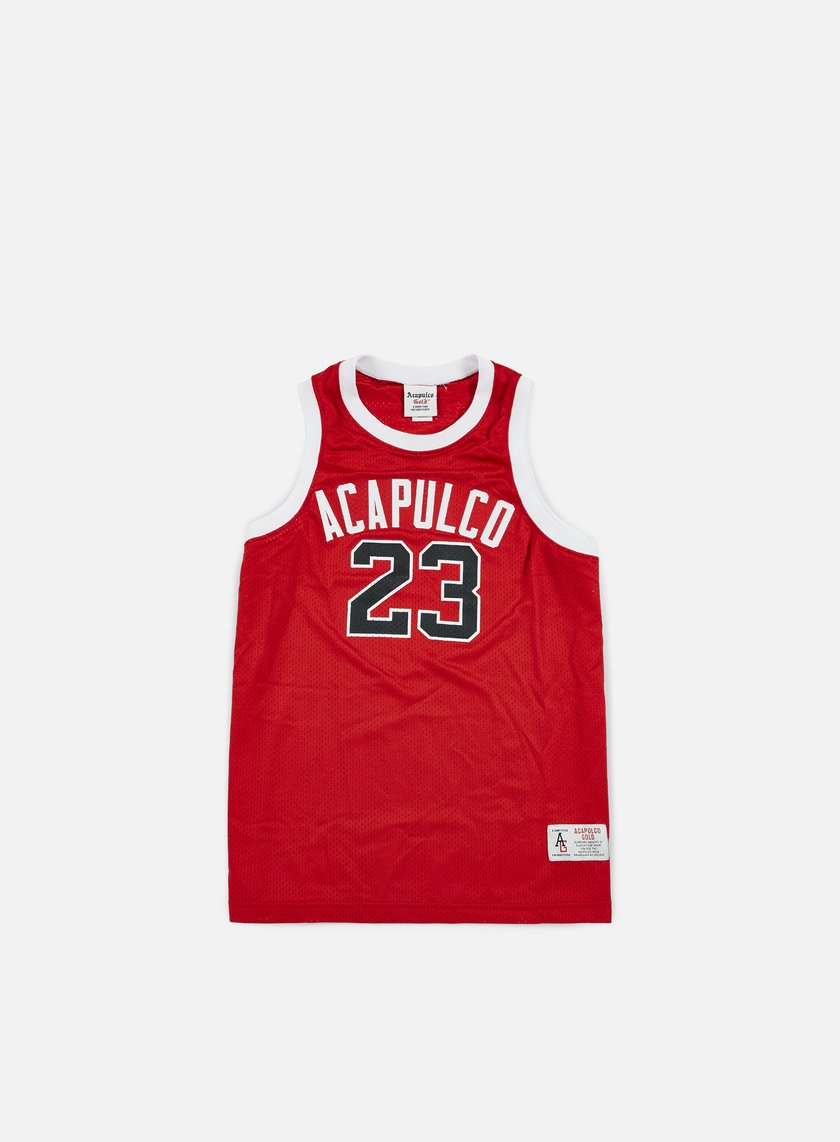 Acapulco Gold - All Court Basketball Jersey, Red