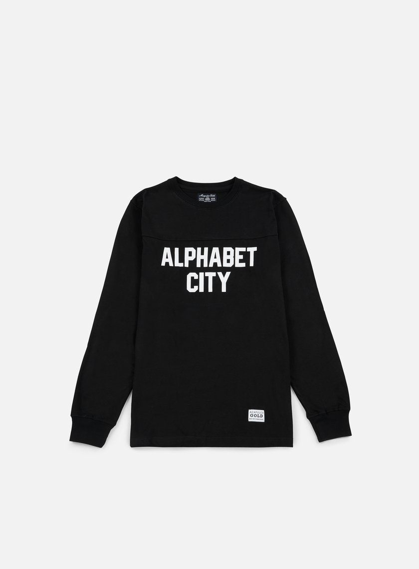 Acapulco Gold - Alphabet LS T-shirt, Black
