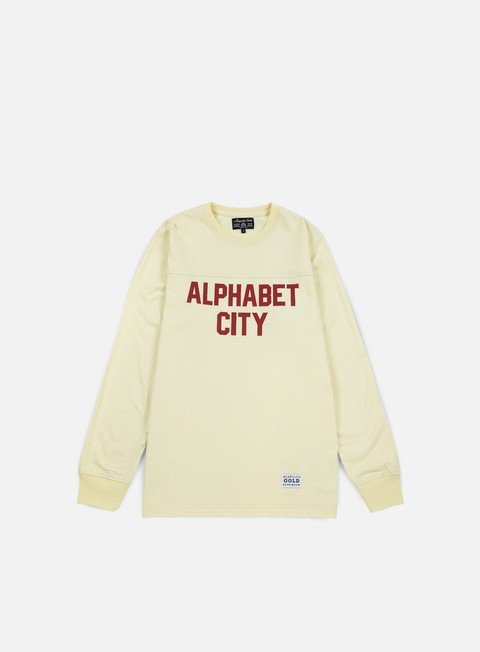 t shirt acapulco gold alphabet ls t shirt cream
