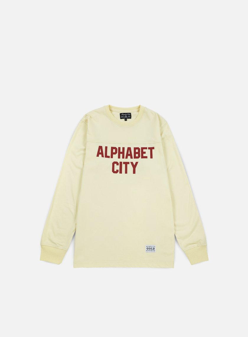 Acapulco Gold - Alphabet LS T-shirt, Cream