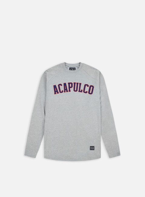 t shirt acapulco gold arc raglan ls t shirt heather grey