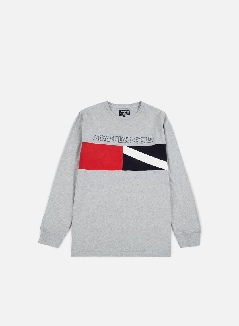 Acapulco Gold - Diver Down LS T-shirt, Grey Heather