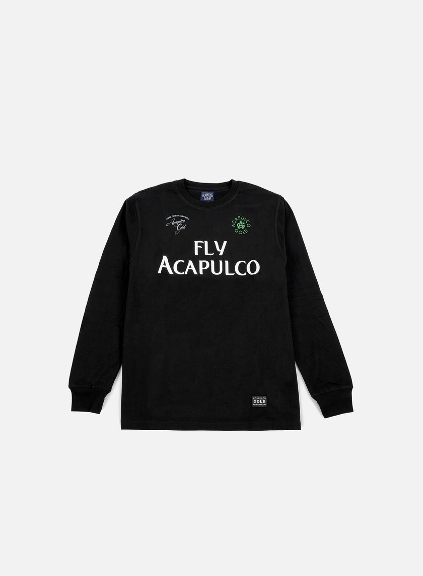 Acapulco Gold - Fly Acapulco LS T-shirt, Black