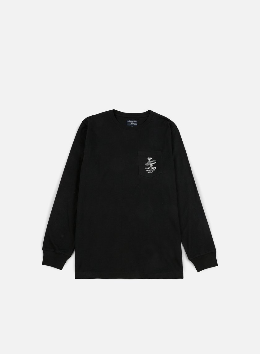 Acapulco Gold - Last Hope Pocket LS T-shirt, Black