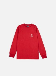 Acapulco Gold - Last Hope Pocket LS T-shirt, Red 1