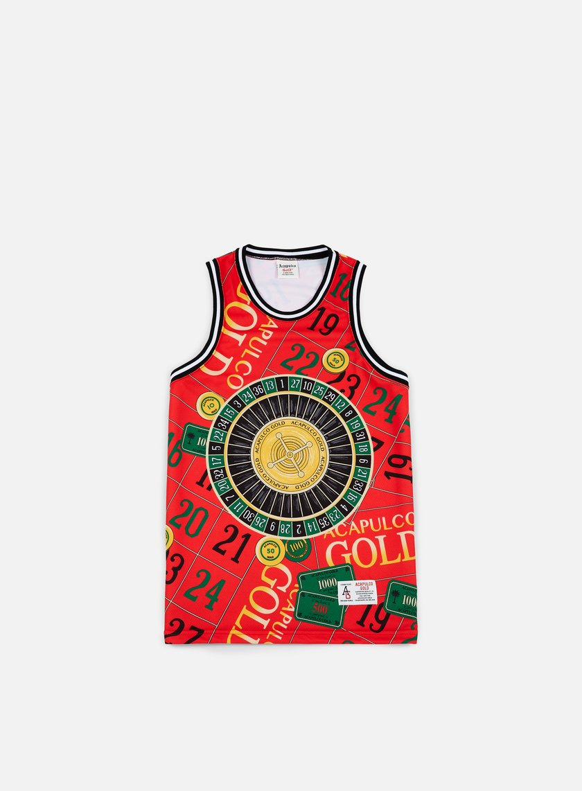 Acapulco Gold - Monte Carlo Basketball Jersey, Red
