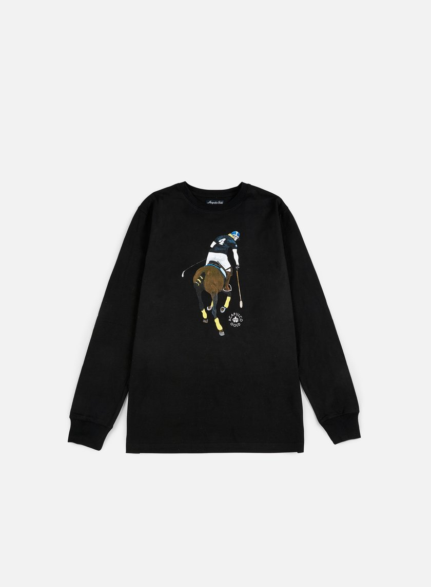Acapulco Gold - Players Cup LS T-shirt, Black