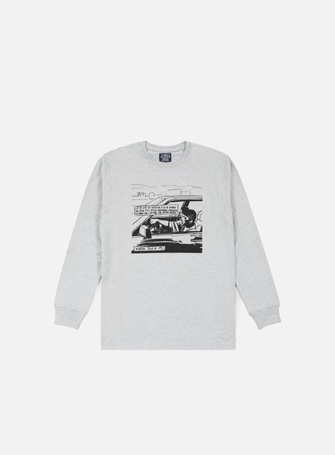 t shirt acapulco gold shook ones long sleeves t shirt heather grey