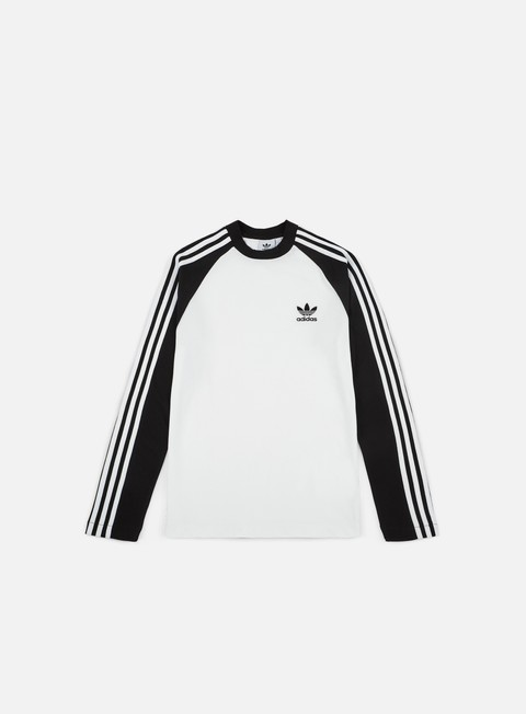 t shirt adidas originals 3 stripes ls t shirt black