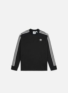 Adidas Originals - 3 Stripes LS T-shirt, Black