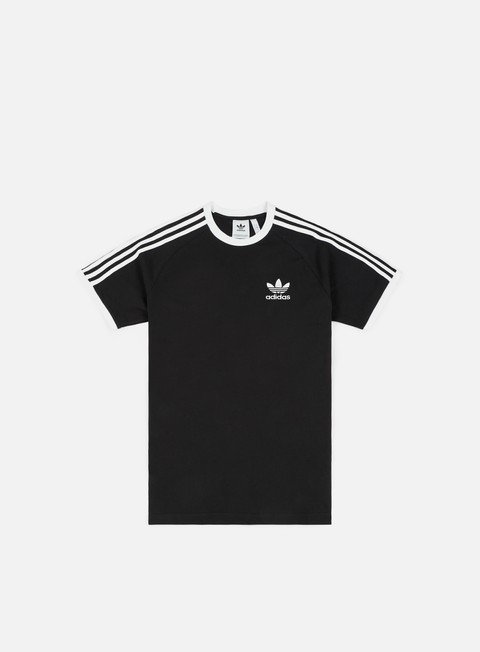 t shirt adidas originals 3 stripes t shirt black