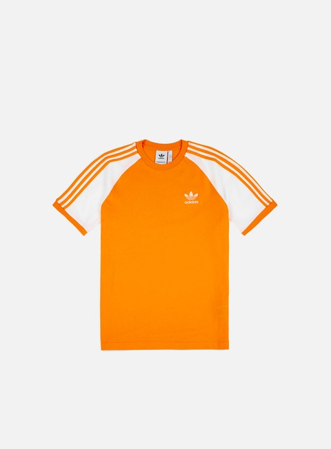 t shirt adidas originals 3 stripes t shirt bright orange