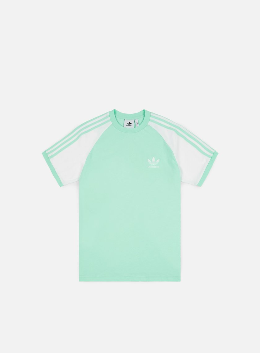 ADIDAS ORIGINALS 3 Stripes T Shirt in Mint Green short