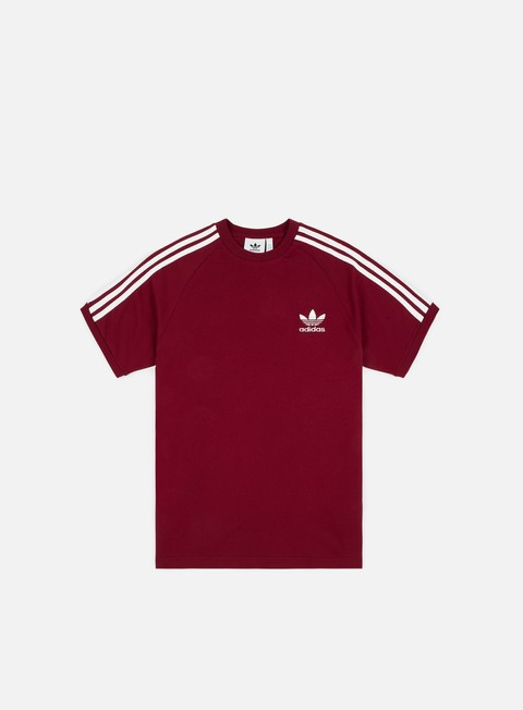t shirt adidas originals 3 stripes t shirt collegiate burgundy