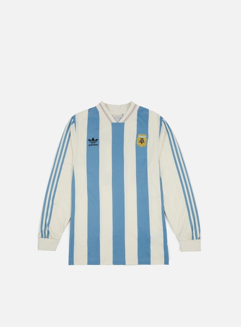 t shirt adidas originals argentina ls jersey echo white shade blue