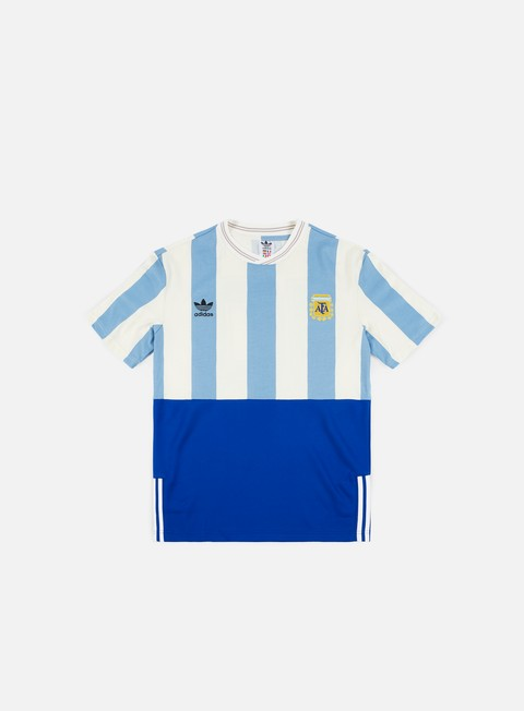 t shirt adidas originals argentina mash up t shirt shadow blue chalk white