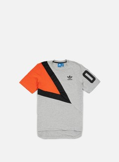 Adidas Originals - Basketball T-shirt, Medium Grey Heather/Collegiate Orange/Black 1