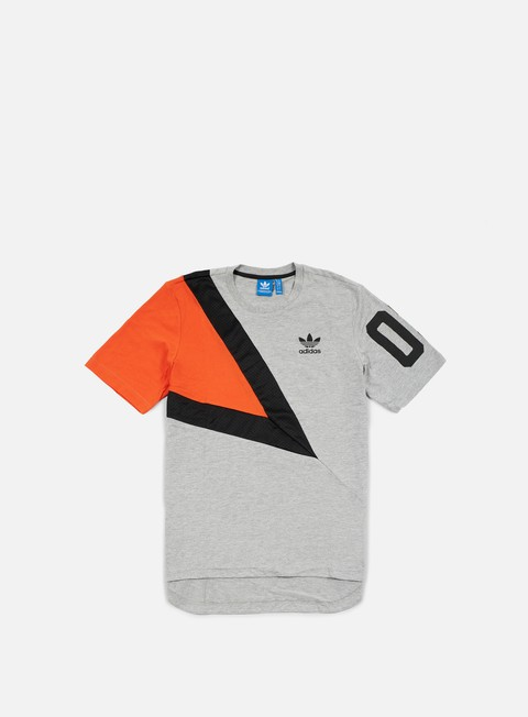 t shirt adidas originals basketball t shirt medium grey heather collegiate orange black