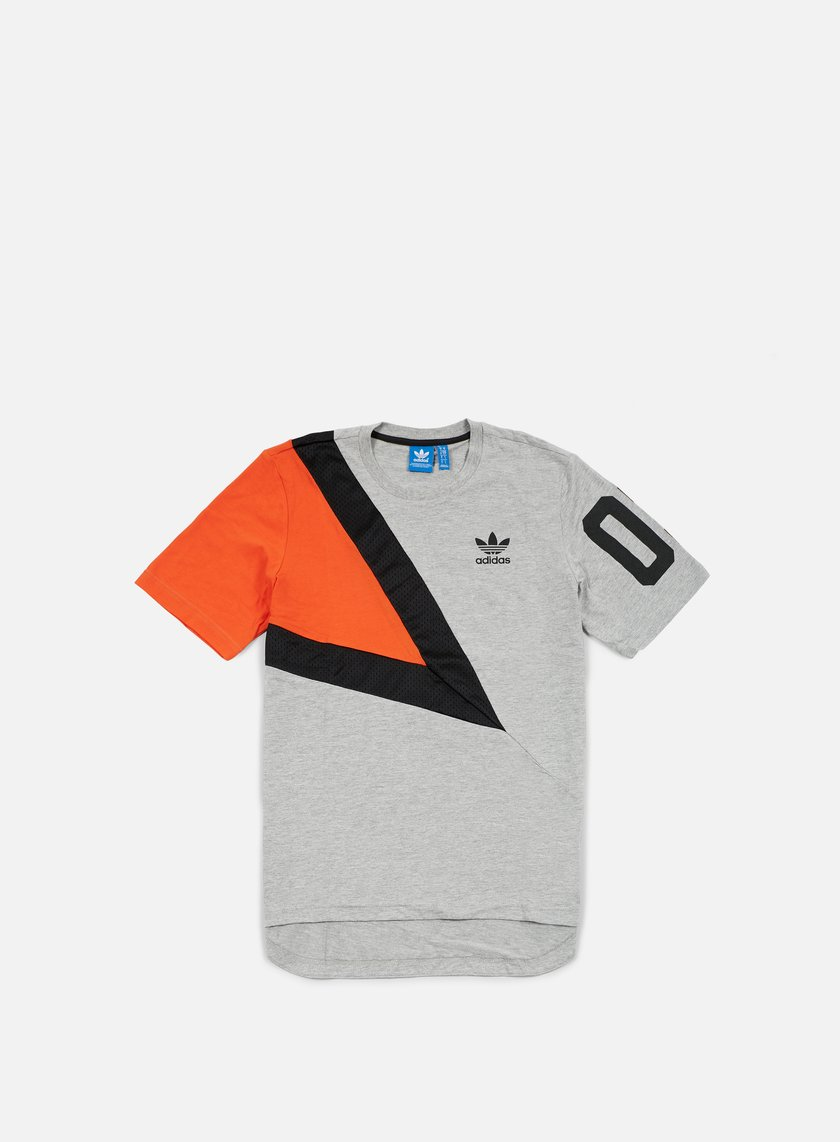 Adidas Originals - Basketball T-shirt, Medium Grey Heather/Collegiate Orange/Black