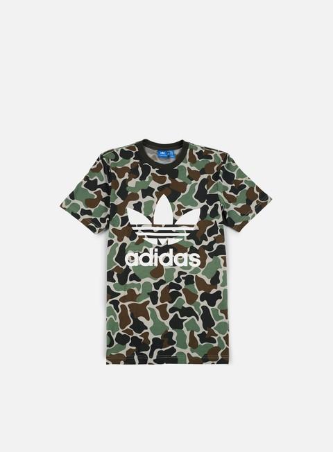 Outlet e Saldi T-shirt a Manica Corta Adidas Originals Camo Trefoil T-shirt