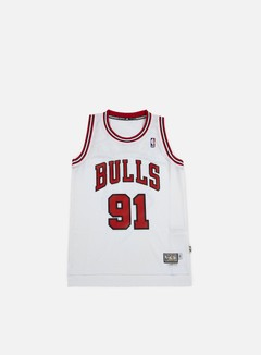 Adidas Originals - Chicago Bulls Retired Jersey Dennis Rodman, White 1