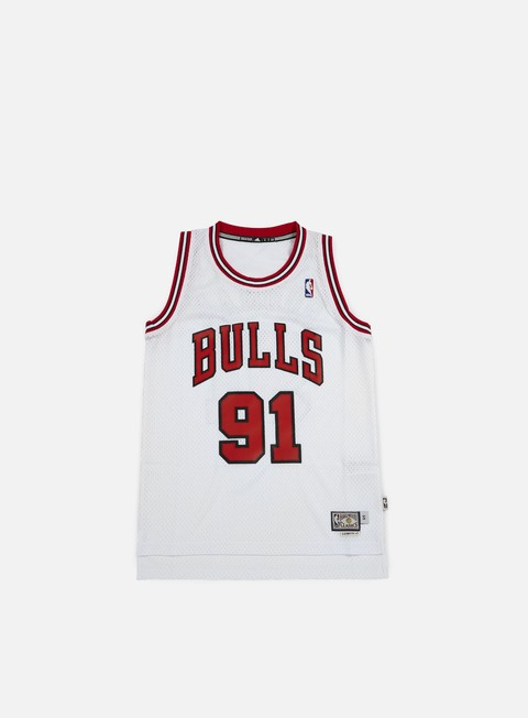 t shirt adidas originals chicago bulls retired jersey dennis rodman white