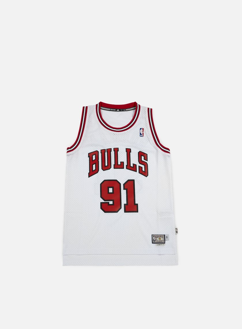 Adidas Originals - Chicago Bulls Retired Jersey Dennis Rodman, White